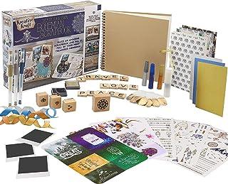 KreativeKraft Kit Album Photo Scrapbooking pour Adultes avec Scrap Book à Spirales Et Plus De 60 Accessoires et Autocollan...