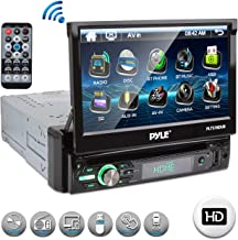 "Pyle Single DIN Head Unit Receiver – In-Dash Car Stereo with 7"" Multi-Color.."