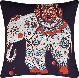 Sleepwish Mandala Throw Pillow Cover Bohemian European Square Pillow Sham Indoor/Outdoor Cushion Covers 28x28 Inch (Elephant Tree)