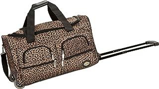 Rockland Luggage 22 Inch Rolling Duffle Bag, Brown Leopard, Medium