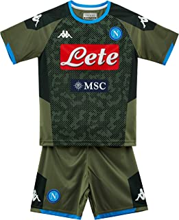 Ssc Napoli Italian Serie A Junior Away Match Kit, Green, 8 Years