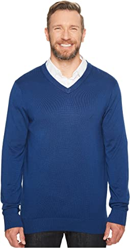Nautica Big & Tall - Big & Tall 12GG V-Neck Sweater