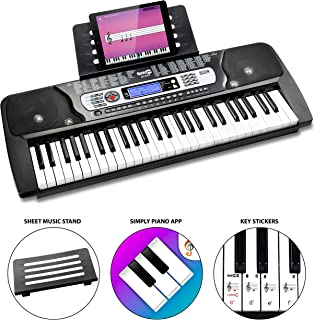 RockJam 54-Key Portable Electronic Keyboard with...