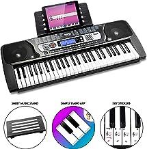 RockJam RJ654 - Teclado Electrónico Portátil de 54 Teclas con Pantalla LCD Interactiva e Incluye la Aplicación de Enseñanza Piano Maestro con 30 canciones