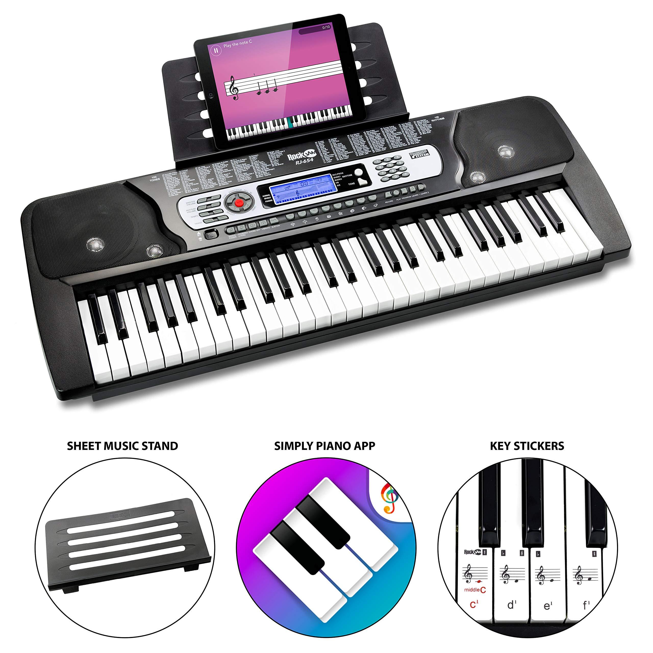 RockJam Portable Electronic Keyboard Interactive
