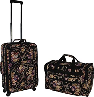 2-Piece Carry-on Expandable Spinner Luggage Set
