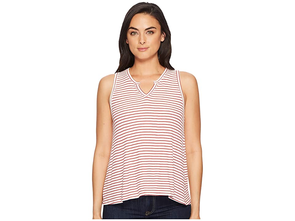 Three Dots Hyannis Stripe Tank Top (Natural/Red) Women