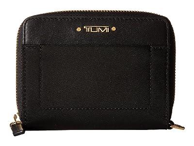 Tumi Voyageur Trifold Zip-Around (Black) Wallet