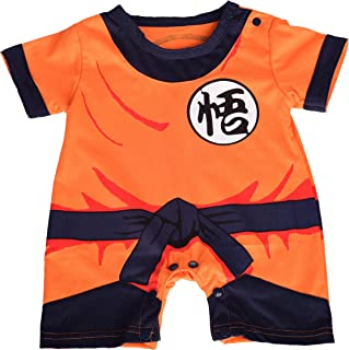 Baby Dragon Ball Son Goku Costume Dress Up Jumpsuit Romper Outfit Infant