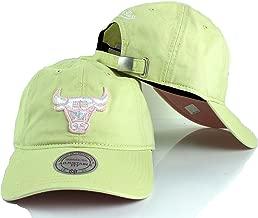 Mitchell & Ness Chicago Bulls NBA Khaki Pastel Slouch Strapback Dad Hat