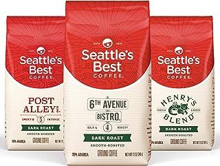 Seattle's Best Coffee Dark Roast Ground Coffee Variety Pack, 12 Ounce (Pack of 3)