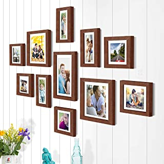 Art Street Photo Frame Set Brown Boulevard, 11 Individual Photo Frame/Wall Hangings for Home Decor.r