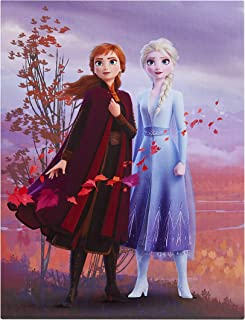 Disney Frozen 2 LED Canvas Wall Art Featuring Anna & Elsa, 15.75