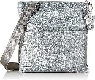 Mandarina Duck Damen Mellow Lux Tracolla Kuriertasche, Silber (Silver), 5.5x25x34.5 Centimeters (W x H x L)