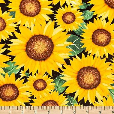 Shannon Studio Digital Minky Cuddle Sunflower Marigold Fabric by the Yard