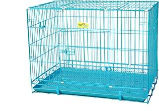 Smarty Pet Paws For A Cause Metal Cage With Removable Tray For Dogs/Rabbit Blue 30 Inch Medium