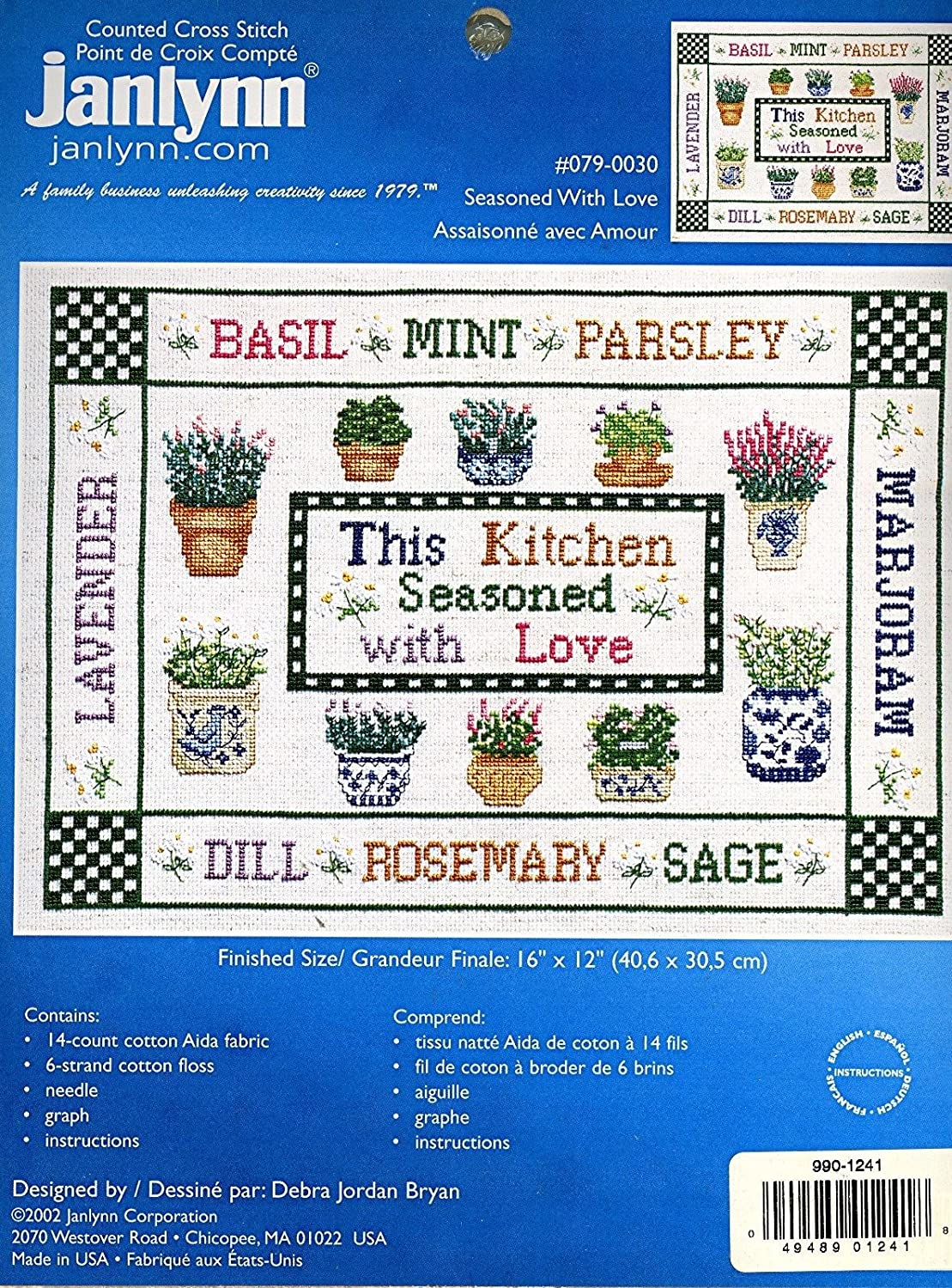 Janlynn Seasoned With Love Counted Cross Stitch #079-0030
