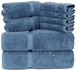 Towel Bazaar Luxury Hotel and Spa Quality Dobby Border 100% Turkish Cotton Eco-Friendly..