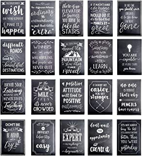 20 Pack Motivational Posters for Classroom Decor, Positivity Quotes Wall Signs for Office, School, Teachers Supplies, Chal...