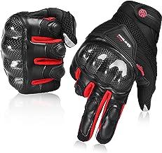 Guantes de Moto Transpirables Verano Off-Road Racing Guantes de Moto de Cuero con Nudillos Completos Protección Almohadilla Pantalla Táctil.