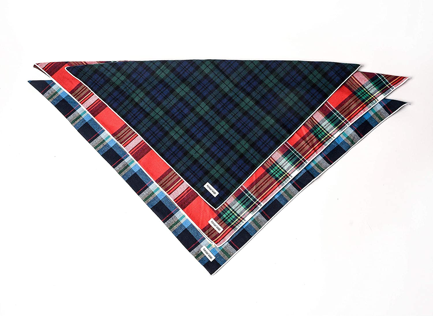 Small, Tan Tartan Plaid Dog Bandana Cats and Puppies Large Medium Small Dog Scarf Pet Accessories for Dogs