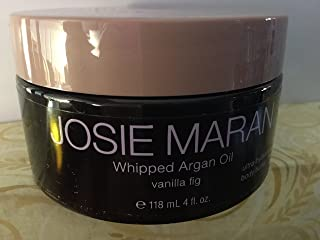 Josie Maran Whipped Argan Oil Body Butter - Immediate, Lightweight, and Long-Lasting Nourishment to Soften and Hydrate Skin (4 fl oz/118ml, Vanilla Fig)