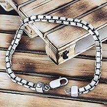 925 sterling silver bracelet for men gift for men bracelet men military bracelet chain bracelet punk jewelry army ball boyfriend rock punk