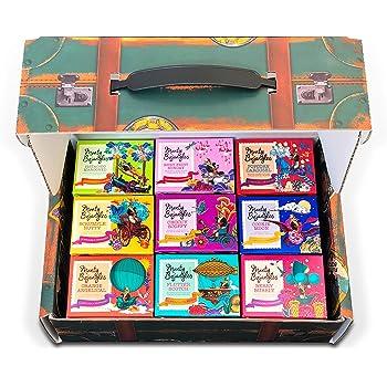 Monty Bojangles 100 Chocolate Truffle Trunk Gift Hamper with 9 Award Winning Flavours 900g