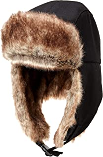 THICK WARM FULL FAUX FUR LINED RUSSIAN TRAPPER  STYLE  THERMAL HAT WITH  BOBBLES