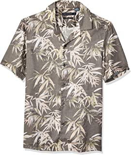 French Connection Mens Men's Short Sleeve Printed Regular Fit Button Down Shirt Short Sleeve Button Down Shirt