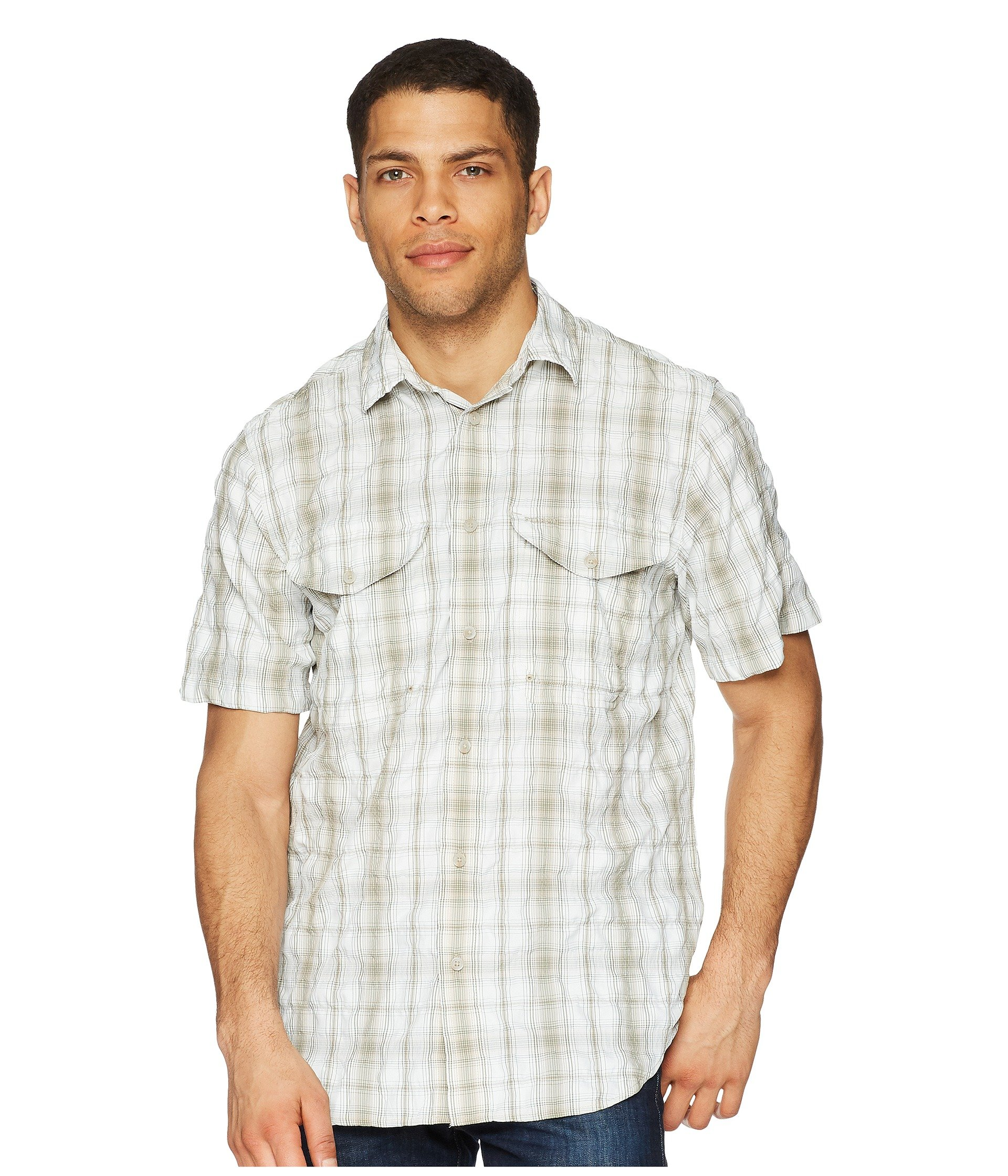 Sport green khaki Sleeve Cream Filson Twin Lakes Short Shirt znBax7w7qF