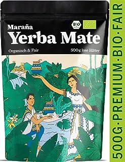 Marania Yerba Mate Tee Bio  Vergleichssieger 2020¹  500g Tee lose  Grüner Tee  Wachmacher mit Koffein