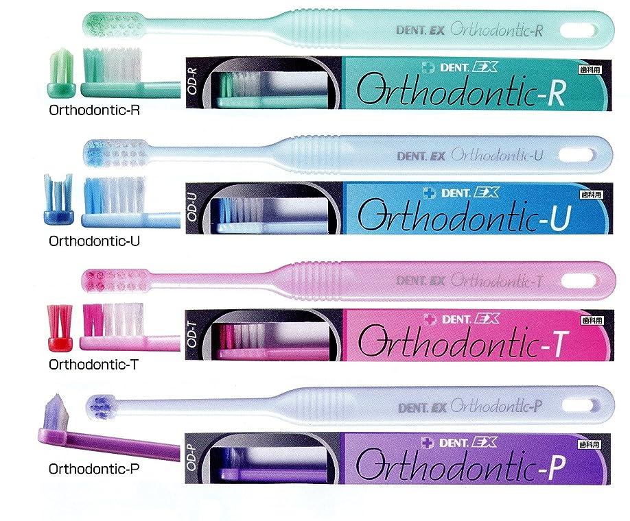 明確なほこりっぽい啓示ライオン オルソドンティック 歯ブラシ DENT.EX Orthodontic-P/パールパープル