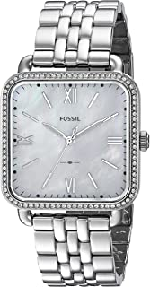 Fossil Women's 'Micah' Quartz Stainless Steel Casual Watch, Color:Silver-Toned (Model: ES4268)