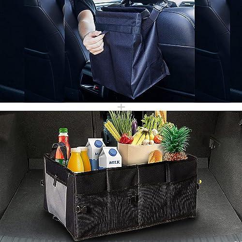 2021 EcoNour Gift Bundle | Car Trash Bag outlet sale + Collapsible Car Trunk Storage Organizer outlet online sale | Closable Car Trash Bag and Must Have Interior Car Accessories | Multi-Compartment Car Organizer outlet sale