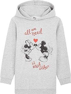 Disney Sudadera Niña, Vestidos Sudadera con Mickey Mouse y Minnie Mouse, Sudaderas con Capucha, Merchandising Oficial Rega...