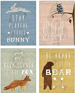 Woodland Nursery, Collection Inspirational Animals 11x14 Print, Nursery Decor, Kids Decor, Animals Decor For Kids, Motivational Art, Inspirational Art
