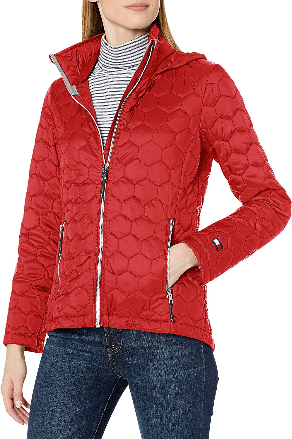 Tommy Hilfiger Women's Hooded Quilted Packable Jacket