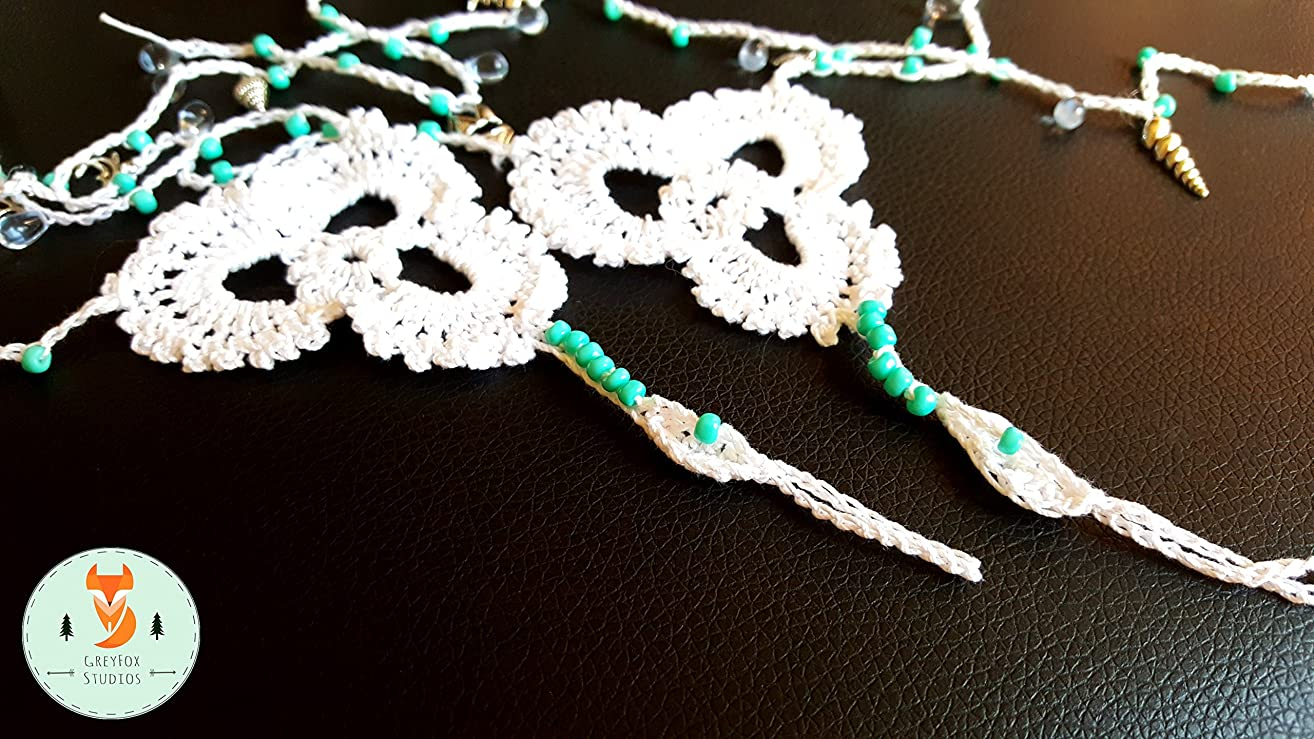 Trinity Beach Barefoot Sandals | Sea Glass | Beads | Boho | Gypsy | Wedding