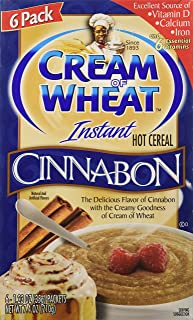 Cream of Wheat Instant Hot Cereal, Cinnabon Flavored, 6ct Box, 7.4oz (Pack of 2)