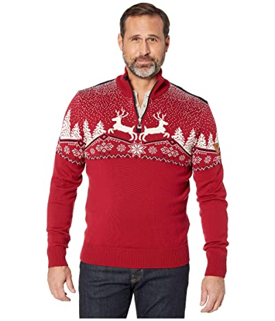 Dale of Norway Christmas Masculine Sweater (Red Rose/Off-White/Navy) Men