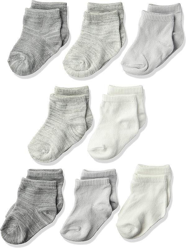Hanes Ultimate Baby Flexy Ankle Length Socks 8 Pack
