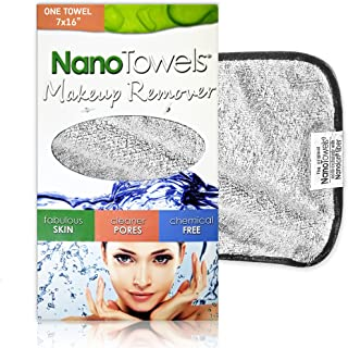 Nano Towel Makeup Remover Face Wash Cloth. Remove Cosmetics FAST and Chemical Free. Wipes Away Facial Dirt and Oil Like An...