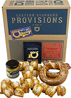 Eastern Standard Provisions: Let's Get Saucy Gourmet Soft Pretzel Pack - Freshly Baked Handcrafted Premium Artisanal Soft ...