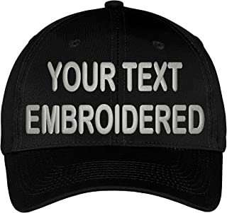 Custom Hat Your Text Embroidered Adjustable Size Curved Bill