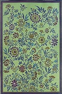 Mad Mats® Wildflowers Indoor/Outdoor Floor Mat, 4 by 6-Feet, Eggplant