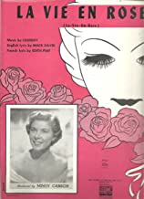LA VIE EN ROSE, sheet music with Mindy Carson on the cover