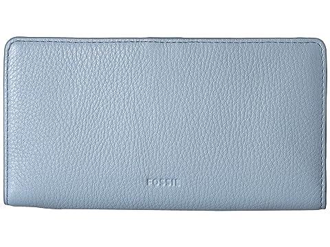 Fossil Caroline RFID Slim Bifold Wallet Horizon Blue Reliable Online xAWth8