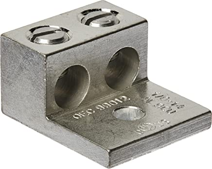 Morris 90812 Lug Mechanical Connector Type Type Type 2 Conductors aluminum One Hole Mount Holes 1 0-Number-14 AWG Wire Range by Morris B005BH8YT6 | Ausgang
