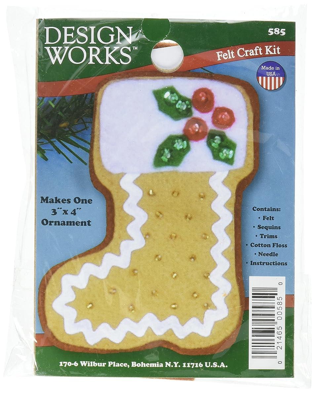 Tobin Gingerbread Stocking Ornament Felt Applique Kit-3